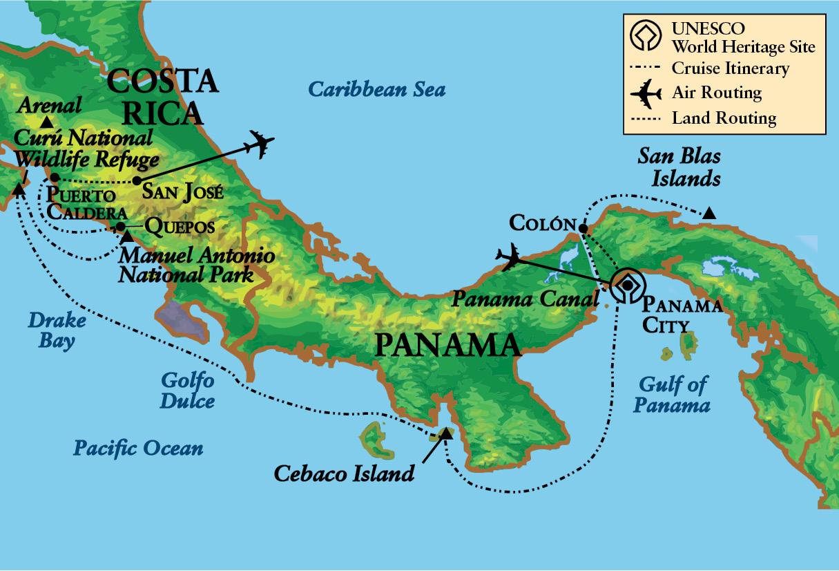 Panama Canal Location On World Map.Panama Canal Tours